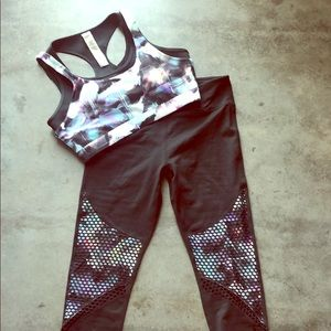Matching Sports Bra and High Waisted Leggings